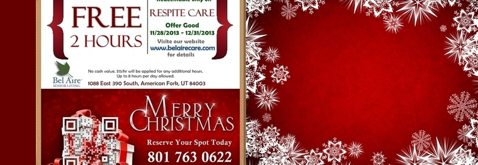 Holiday Season Respite Care Coupon